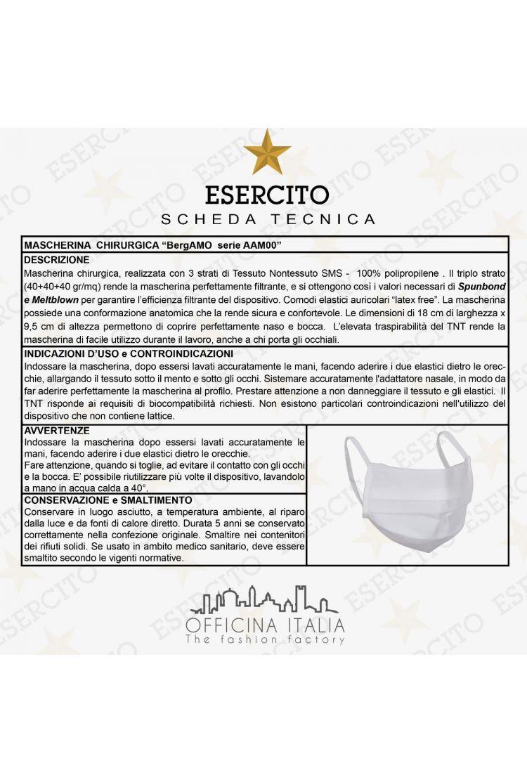 Abbigliamento Esercito Italiano   Mascherina BergAMO (10 pezzi / Confezione)